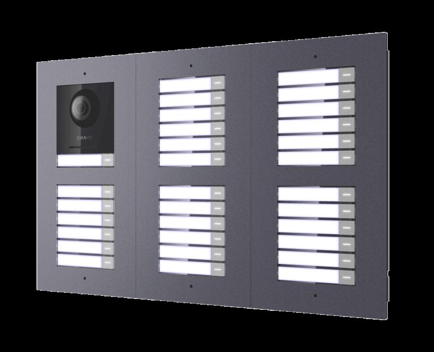 SMAVID-Kameramodul+5-Klingelmodule-Unterputz
